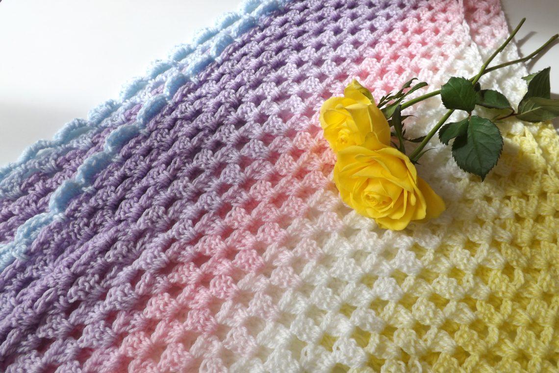 Crochet The Rainbow Shawl