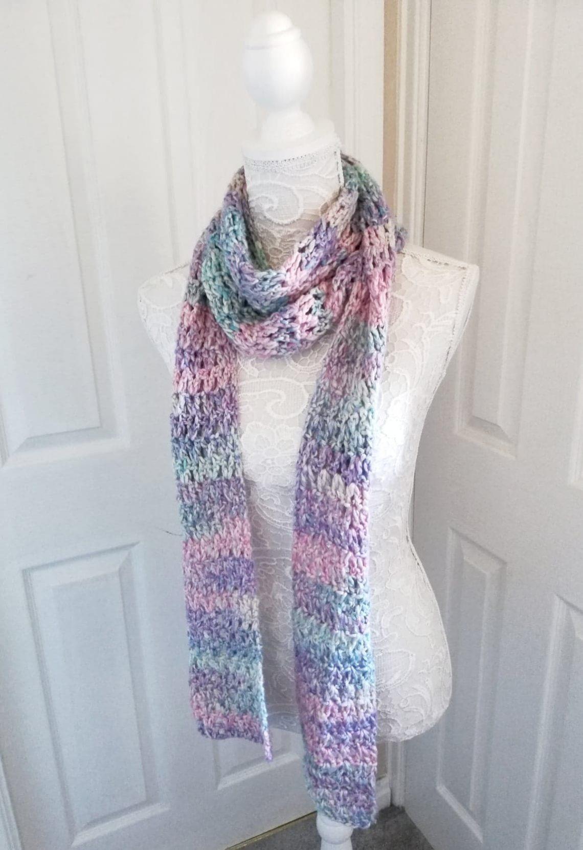 Crochet a Feminine Spring Scarf by Selina Veronique Crochet