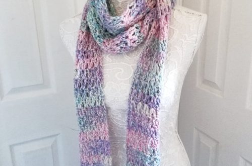 Crochet a Feminine Spring Scarf by Selina Veronique Crochet