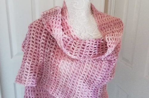 Crochet La Vie en Rose Wrap