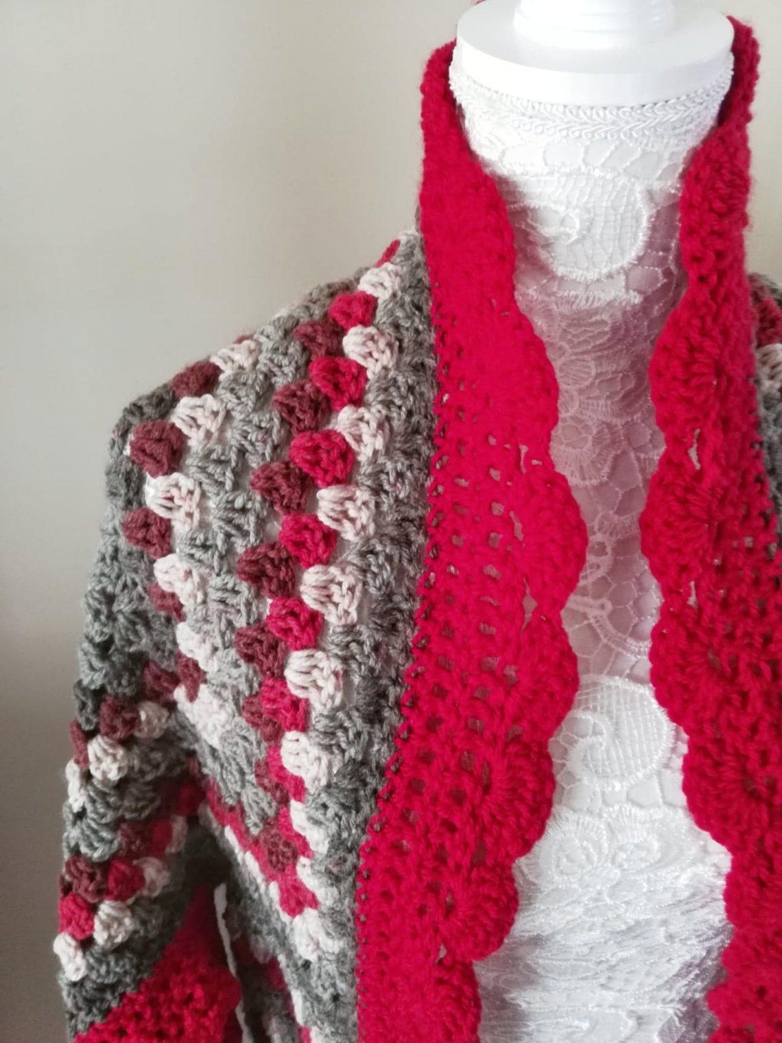 Crochet The Red Velvet Cardigan