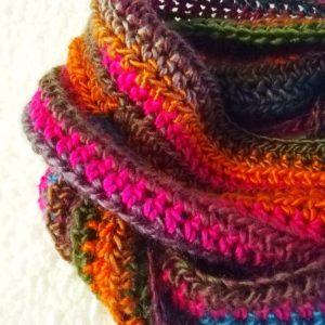 Crochet The Autumn Leaves Infinity Scarf