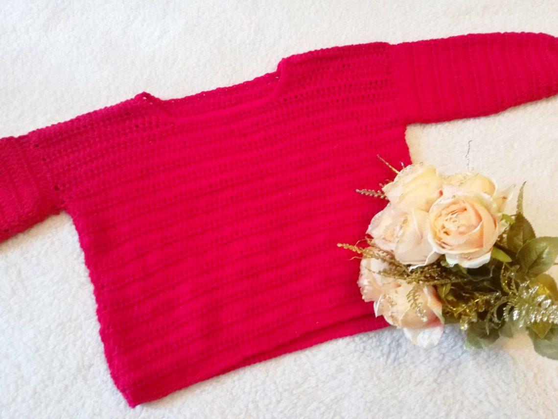 Crochet Easy Scarlet Jumper