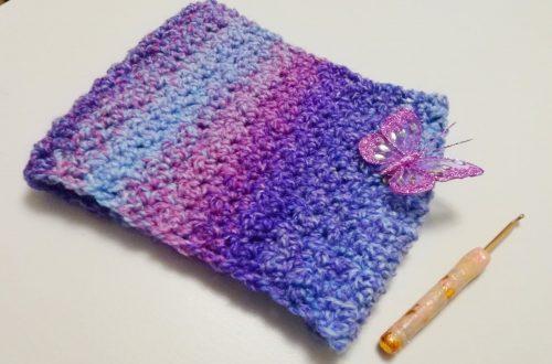 Crochet Ombre Violet Cowl