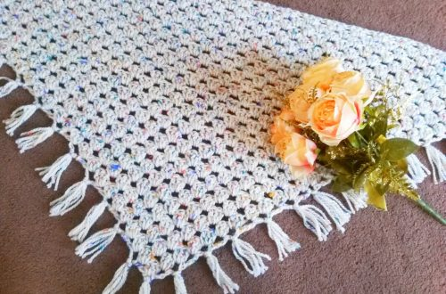 Crochet a Beautiful Boho Chunky Fringed Wrap