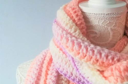 Crochet Easy Ribbed Scarf