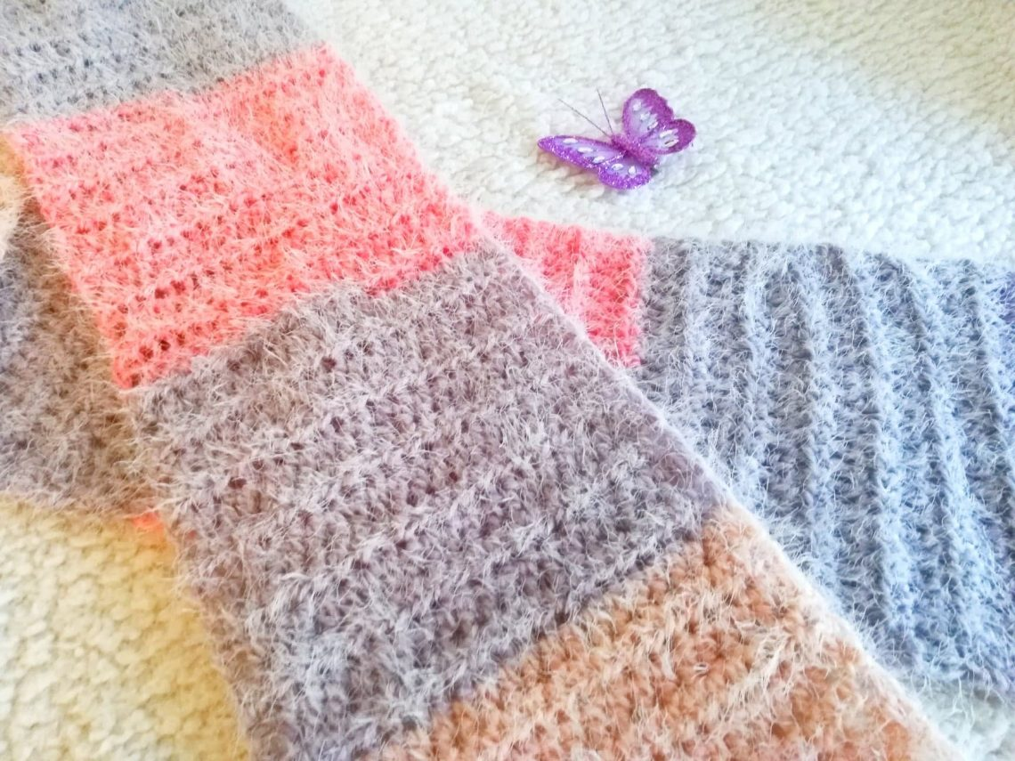 Crochet Soft Fluffy Scarf