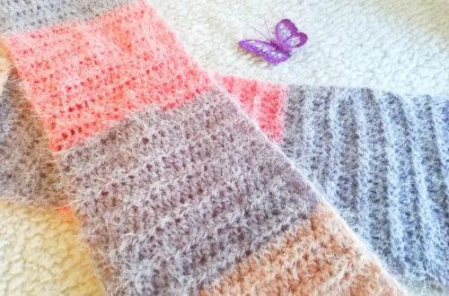 Crochet Soft Fluffy Scarf