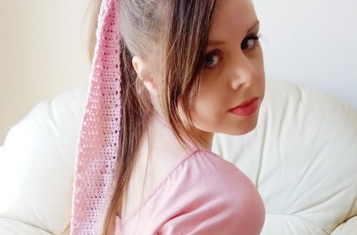 Crochet Romantic 1950s Hair Scarf