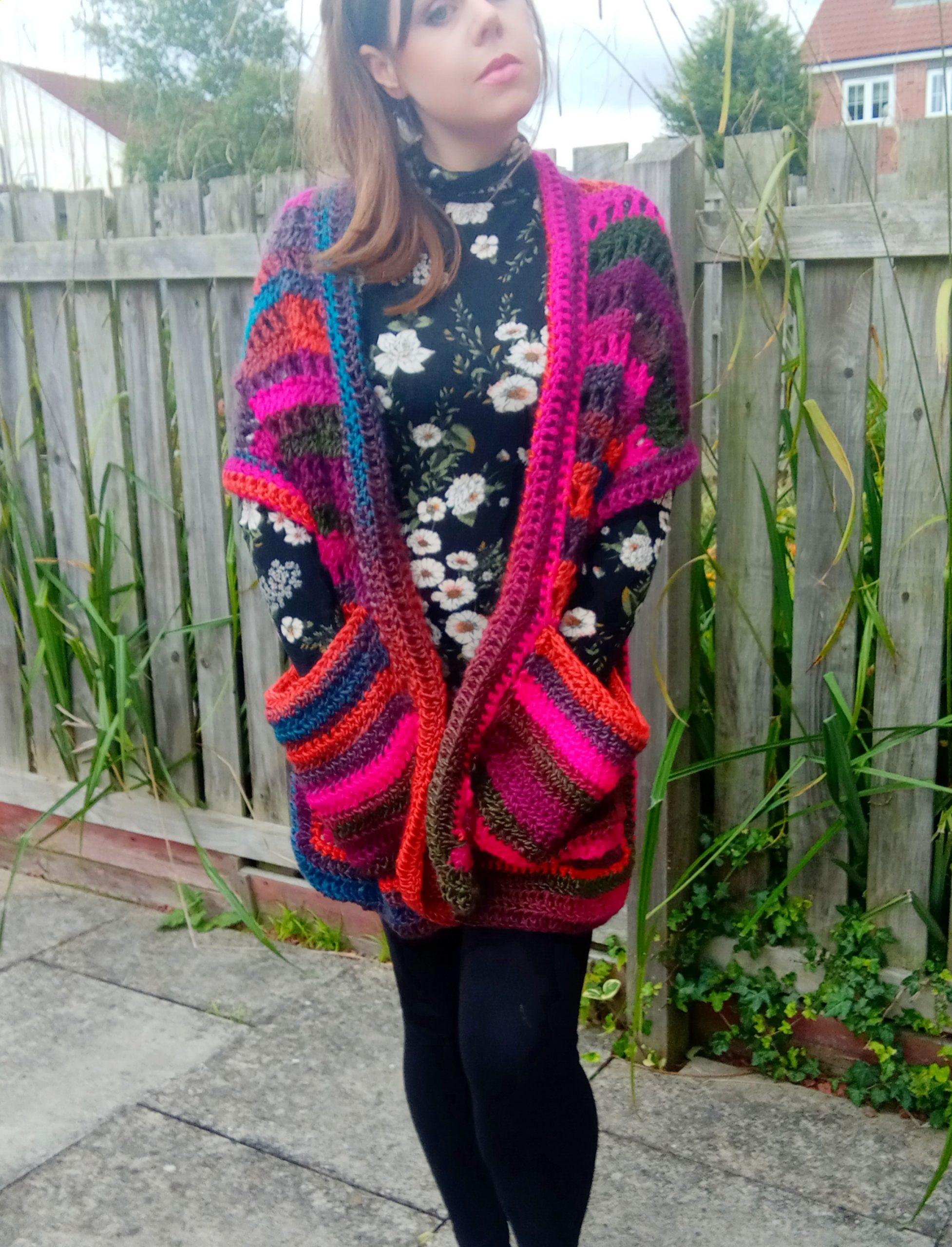 Crochet A Fall Pocket Shawl