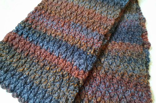 Crochet Masculine & Classic Man Scarf