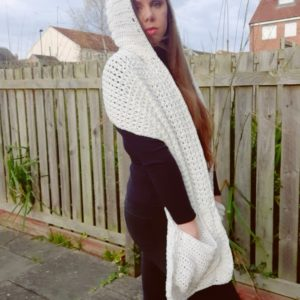Crochet A Pocket Shawl with Hood