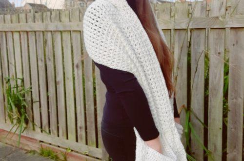 Crochet A Pocket Shawl with Hood