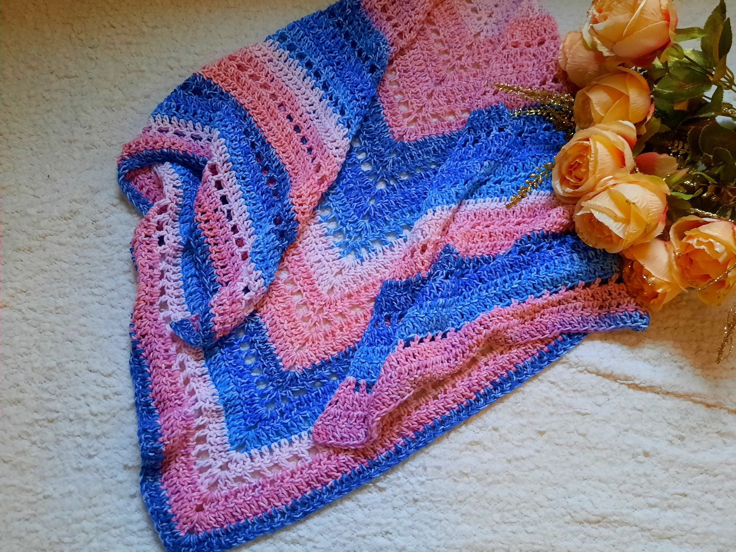 Crochet The Siren's Call Boho Wrap