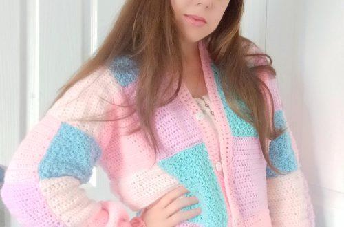 Crochet The Iconic Patchwork Pastel Cardigan
