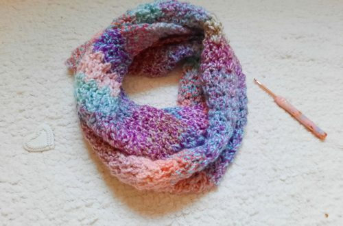 Crochet The Simple Purity Infinity Scarf