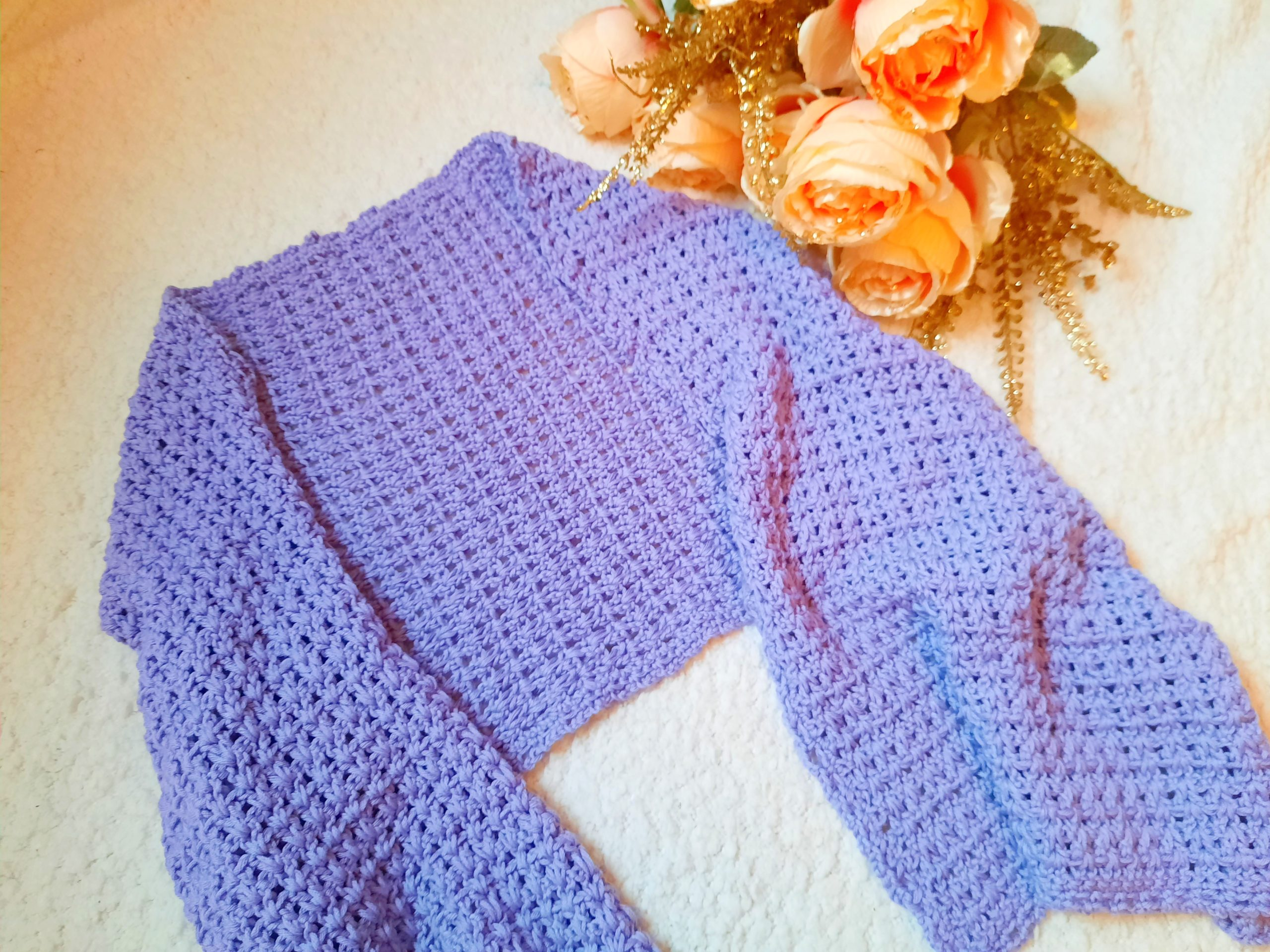 Crochet The Sweet Lilac Edwardian Era Wrap