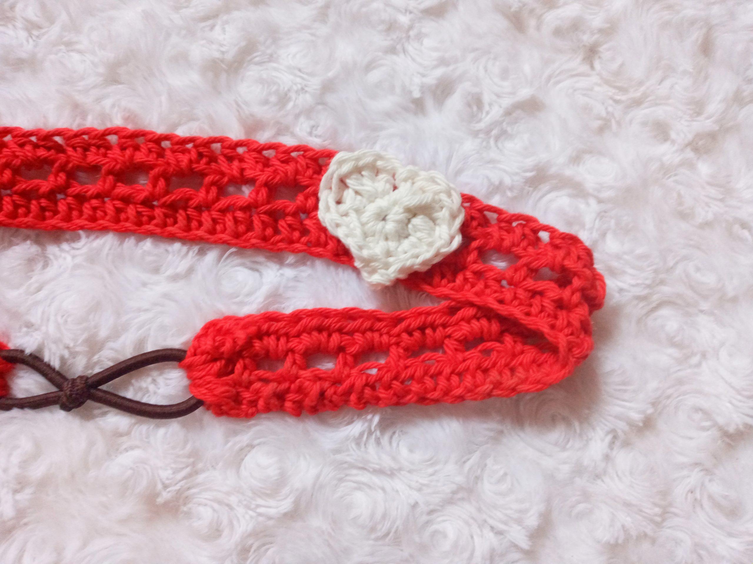 Crochet Be My Valentine Hairband