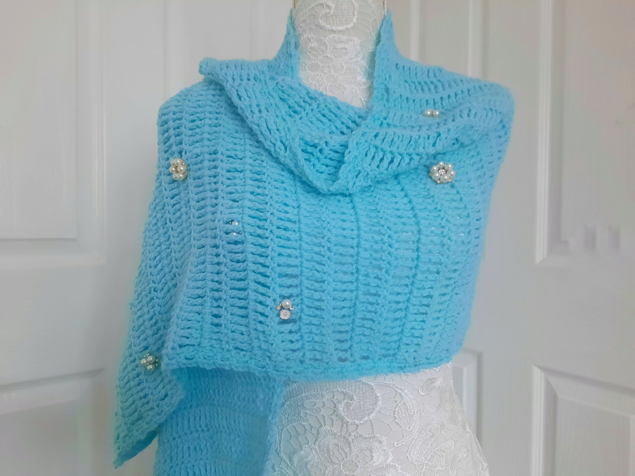 Crochet Bridgerton Inspired Regency Era Wrap