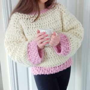 Crochet The Rose Petal Jumper