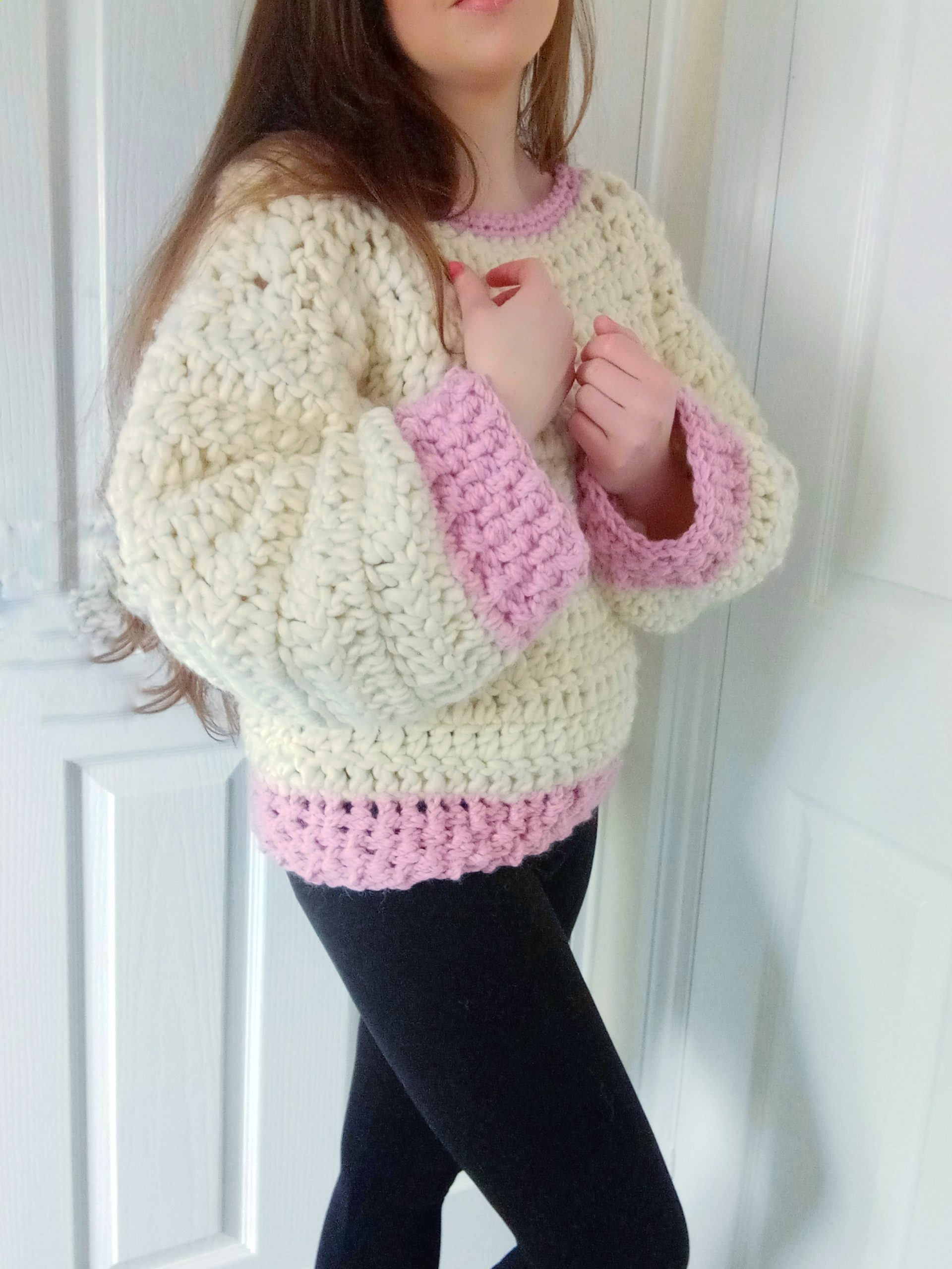 Crochet The Rose Petal Jumper