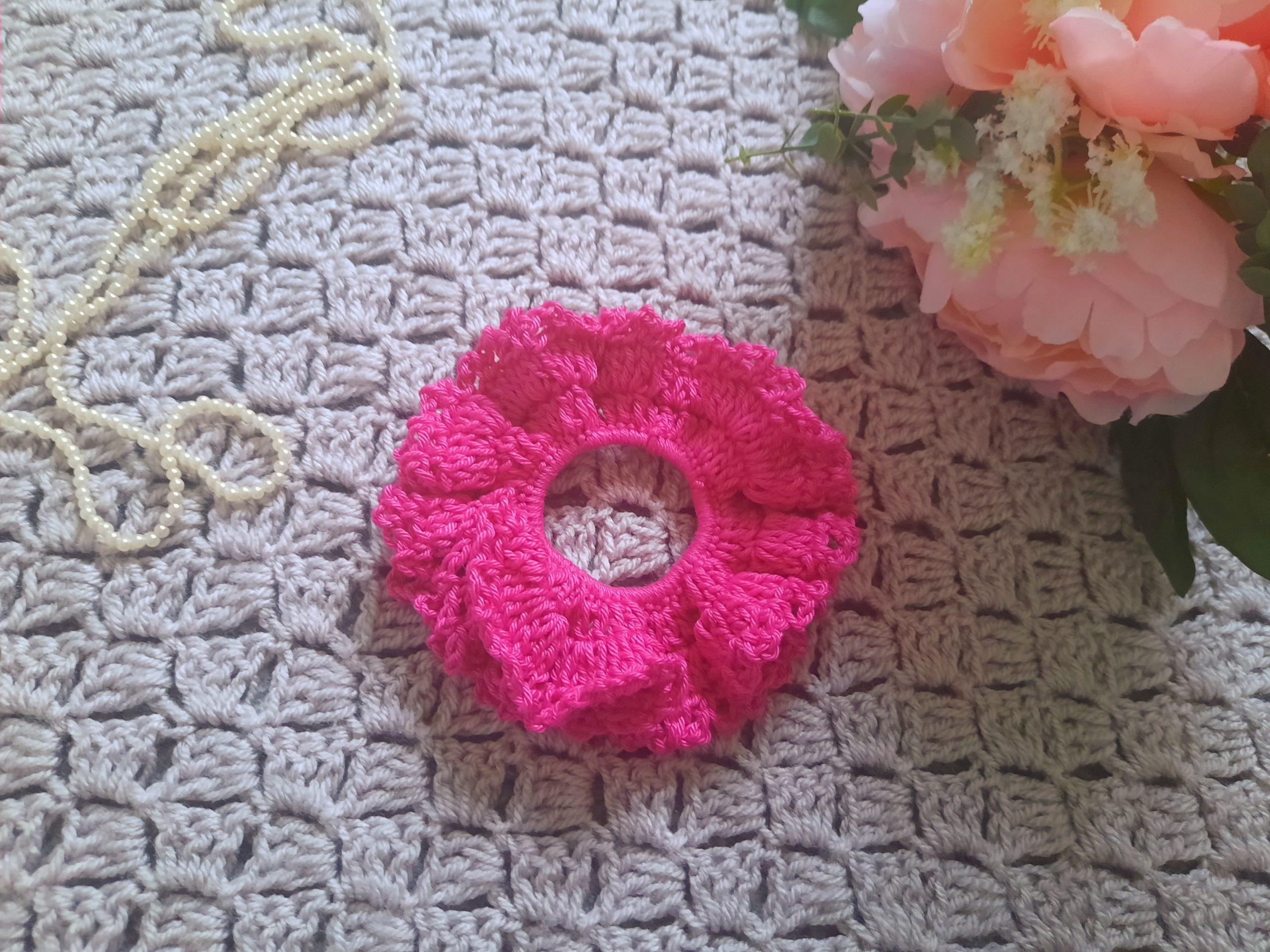 Crochet Easy Cotton Scrunchie
