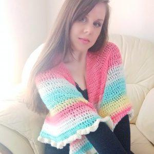 Crochet The Polina Half Circle Shawl