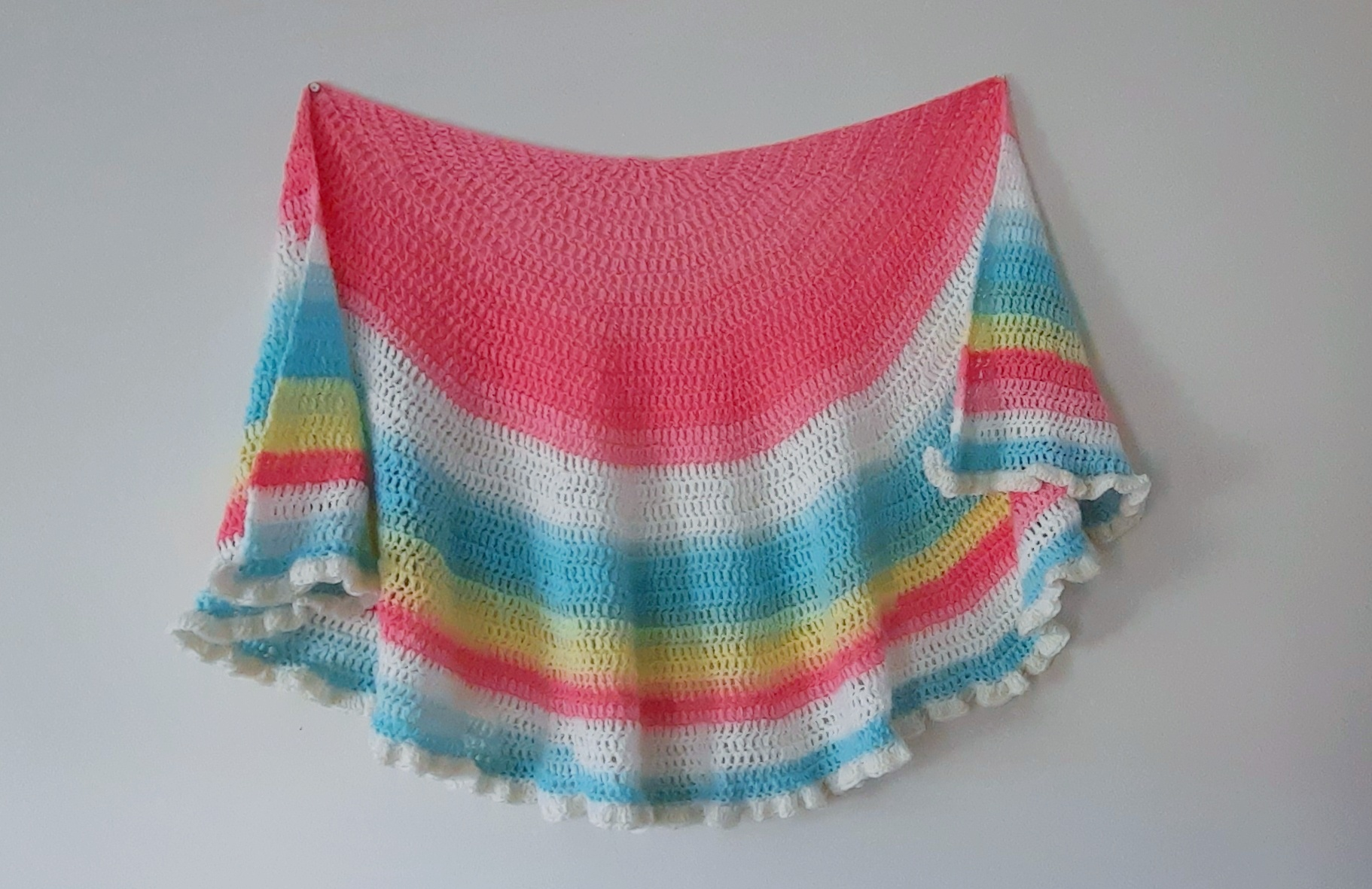 Crochet The Polina Half Circle Shawl