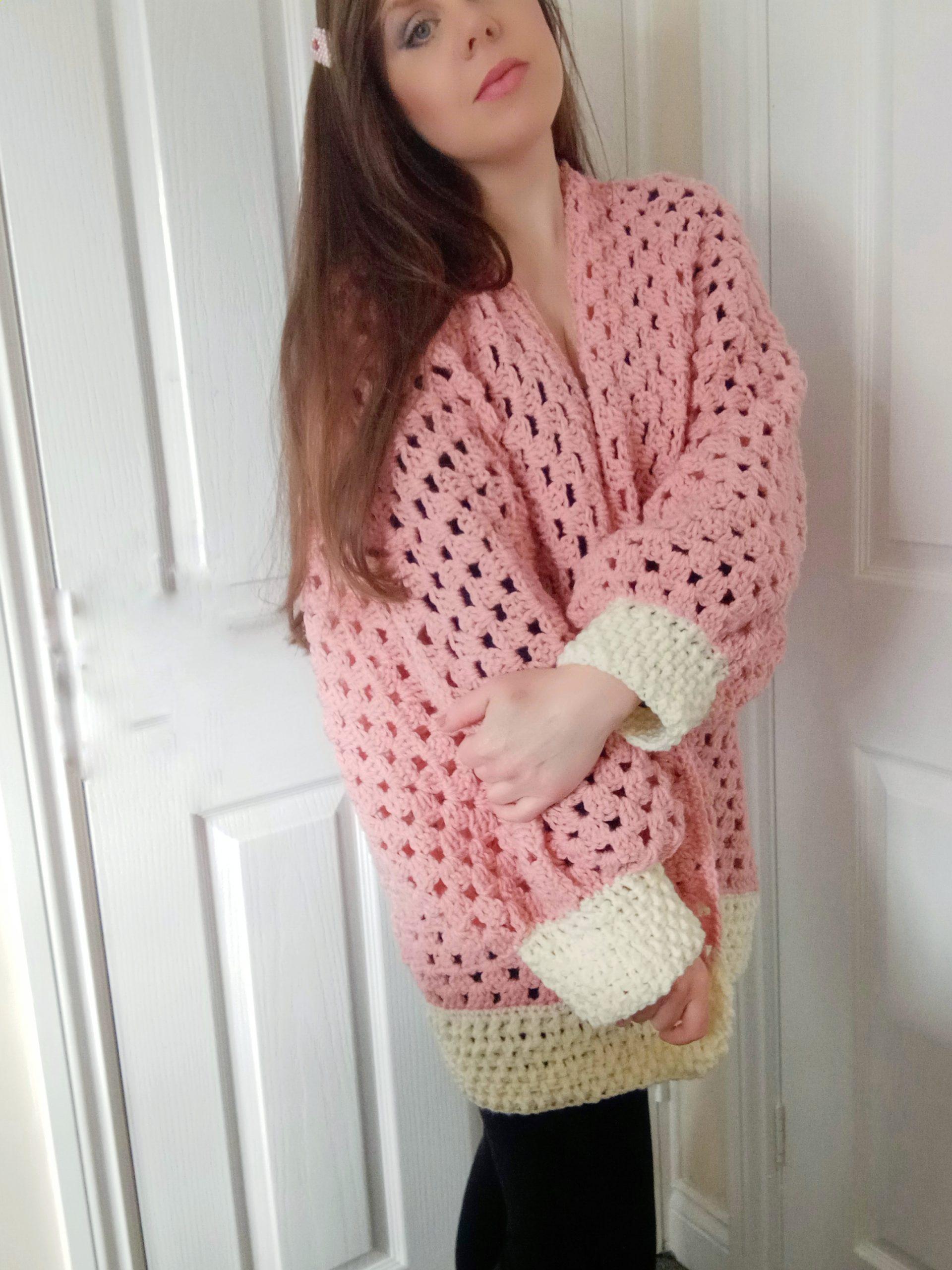 Crochet The Sweet Dreams Hexagon Cardigan