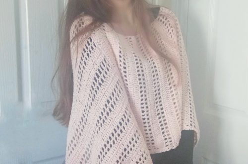 Crochet Summer Pink Poncho