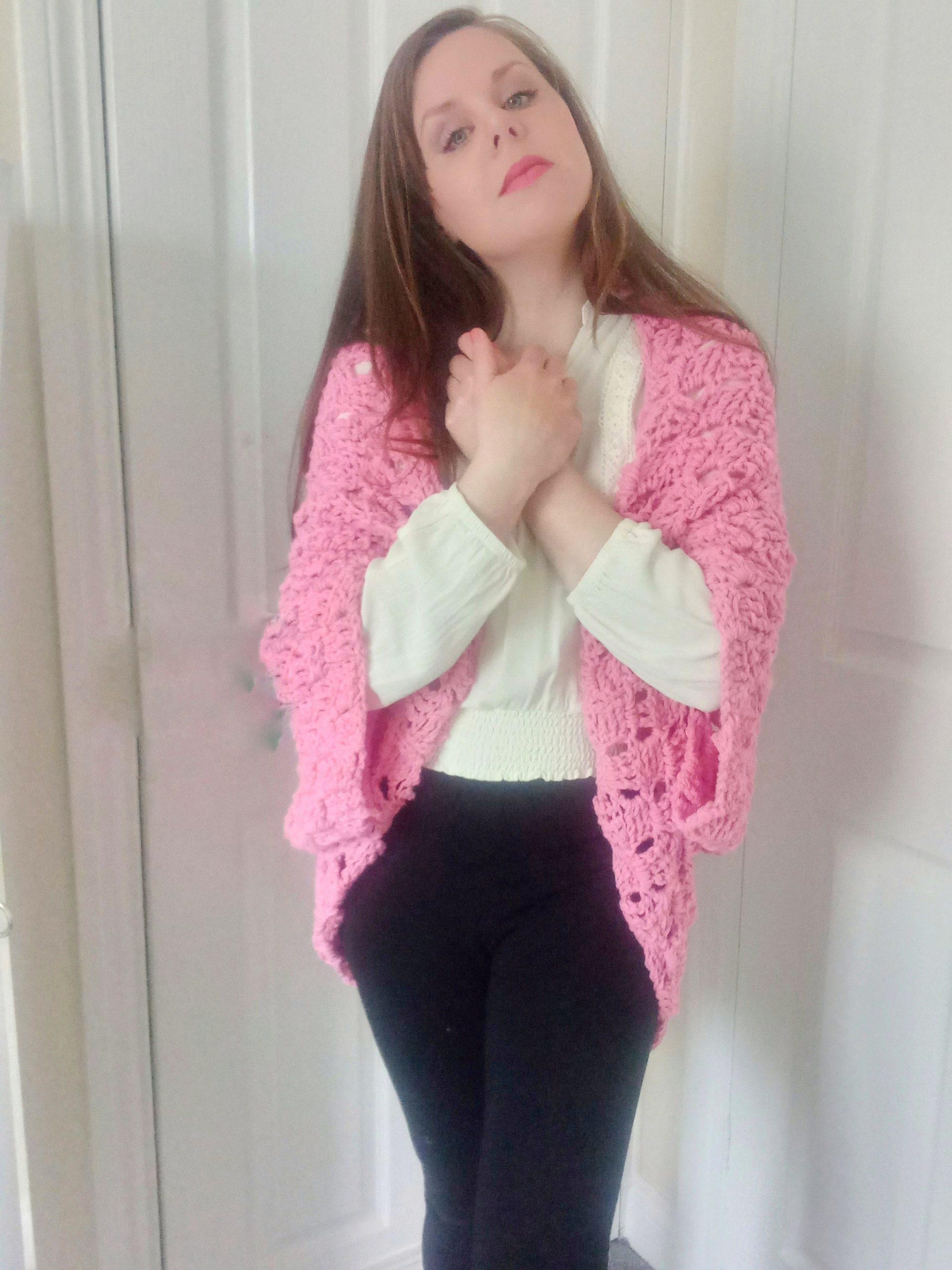 Crochet The Lovely Pink Shrug