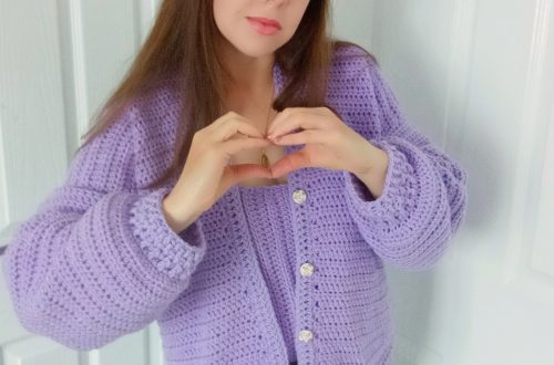 Crochet The Sweet Lilac Cardigan