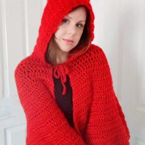 Crochet The Scarlet Hooded Shawl Pattern
